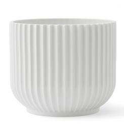 Lyngby Porcelæn Urtepotteskjuler Medium Hvid