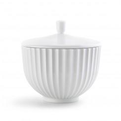Lyngby Porcelæn Bonbonniere Hvid Ø14 cm