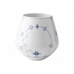 Royal Copenhagen Musselmalet Riflet Vase stor