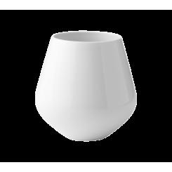 Royal Copenhagen Hvid Riflet Vase stor
