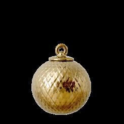 Lyngby Porcelæn Rhombe Dekorationskugle Guld