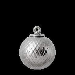 Lyngby Porcelæn Rhombe Dekorationskugle Sølv