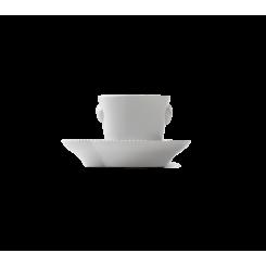 Royal Copenhagen Hvid Elements Espressokop med underkop