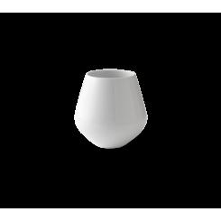 Royal Copenhagen Hvid Riflet Vase lille