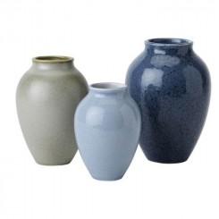 Knabstrup Keramik Vase Mini 3-pak Blå
