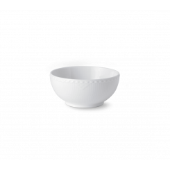 Royal Copenhagen Hvid Halvblonde Skål 15 cm