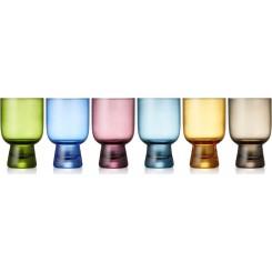 Lyngby farvede tumbler vandglas 6 stk. 30 cl.