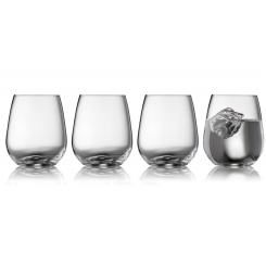 Lyngby Glas Krystal Zero tumblerglas, 410 ml, 4stk