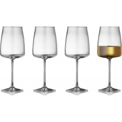 Lyngby Glas Krystal Zero hvidvinsglas, 430 ml, 4 stk