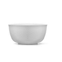 Lyngby Porcelæn Rhombe Serveringsskål 22 cm, Hvid