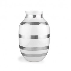 Kähler Omaggio Vase Sølv 30,5 cm