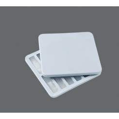 RIG-TIG Freeze-It Isterningsbakke med låg, rektangulære forme