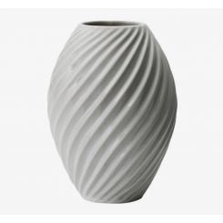 Morsø River Vase 21 cm, hvid porcelæn