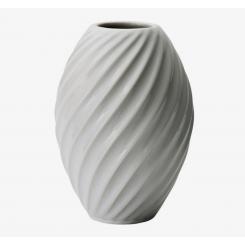 Morsø River Vase 16 cm, hvid procelæn