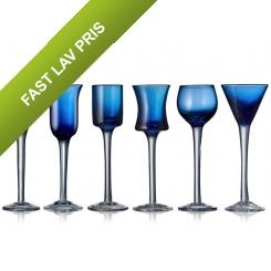 Lyngby Glas Snapseglas 6 stk. Blå