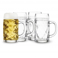 Lyngby Glas ølkrus 0,5 ltr. 4 stk