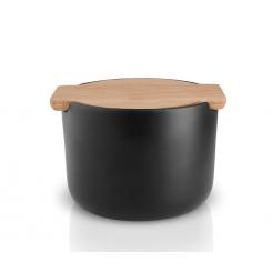 Eva Solo Nordic Kitchen saltkrukke med låg, eg/sort