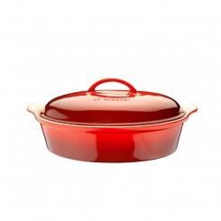 Le Creuset Oval Stegeso 36 cm cerise rød