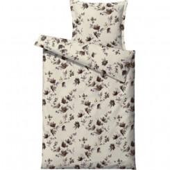 Södahl sengetøj 140 x 220 delicate petals nature brown