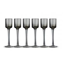 Lyngby glas snapseglas grå 6 stk. 5 cl