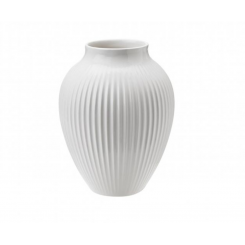 Knabstrup vasen, hvid 12,5 cm