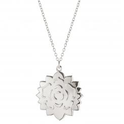 Georg Jensen 2020 ornament rosette i kæde palaldium