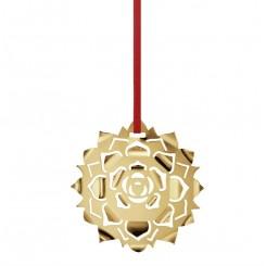 Georg Jensen 2020 ornament rosette forgyldt