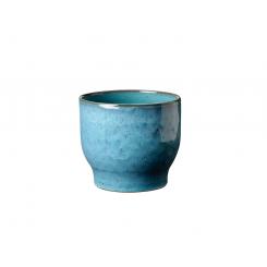Knabstrup Keramik Urtepotteskjuler Ø12,5 cm, støvet blå
