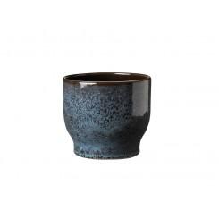 Knabstrup Keramik Urtepotteskjuler 14,5 cm havblå