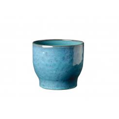 Knabstrup Keramik Urtepotteskjuler Ø14,5 cm, støvet blå