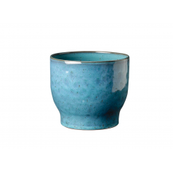 Knabstrup Keramik Urtepotteskjuler Ø16,5 cm, støvet blå