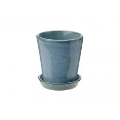 Knabstrup Keramik Dyrkningspotte støvet blå