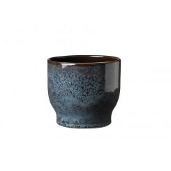 Knabstrup Keramik Urtepotteskjuler 16,5 cm havblå