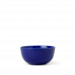 Lyngby Porcelæn Rhombe Color Skål mørkeblå Ø13 cm