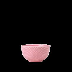Lyngby Porcelæn Rhombe Color Skål rosa Ø11 cm
