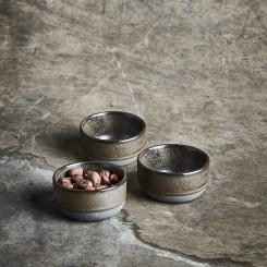 Aida RAW mini skål 3 stk Metallic Brown