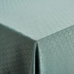 Nordisk Tekstil damask dug Honey 140x320 cm støvet grøn