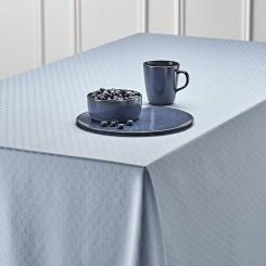 Nordisk Tekstil damask dug Honey 140x320 cm støvet blå