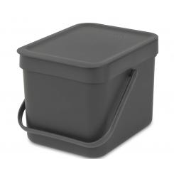 Brabantia sortering affaldsspand 6 ltr grå