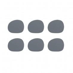 Aida RAW - coaster recycled leather grå 6 pak