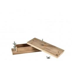 Holm Rullepølsepresse 34,9 x 13 x 10,8 cm Akacietræ