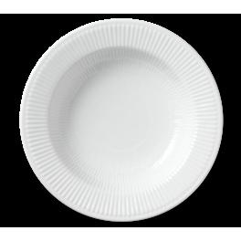 Royal Copenhagen Hvid Riflet Pastatallerken